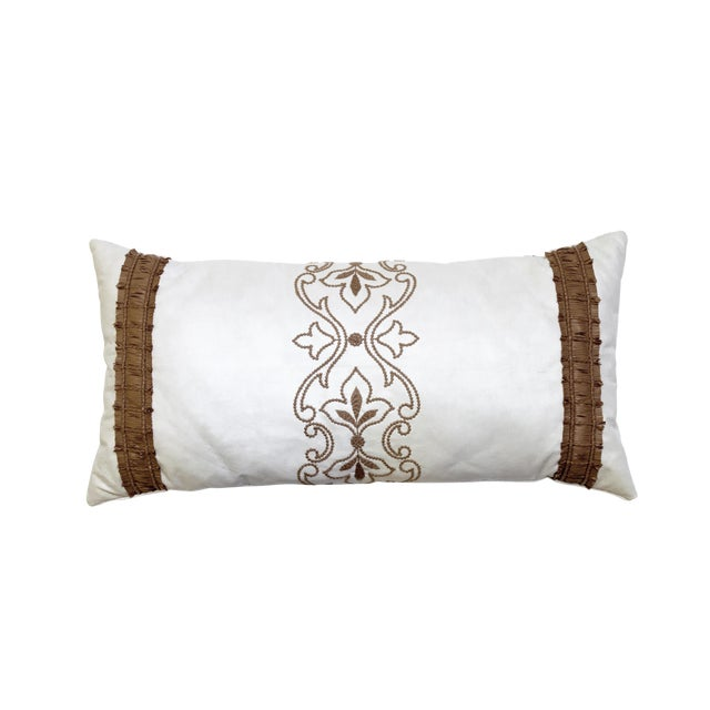 Beacon Hill Faux Leather Lumbar Pillow - Image 2 of 3