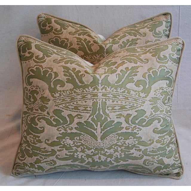 Italian Fortuny Corone Crown Down Pillows - A Pair - Image 8 of 11