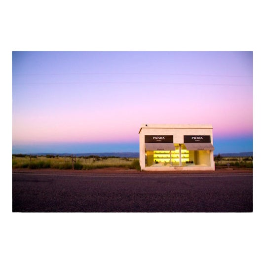 Prada Marfa by Gray Malin, Signed and Framed For Sale