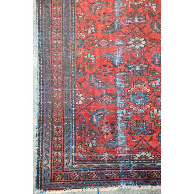 """Antique Hand Knotted Persian Floral Design Rug - 3'6"""" X 4'8"""" For Sale - Image 9 of 11"""