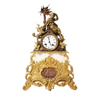 French Mantel Clock For Sale