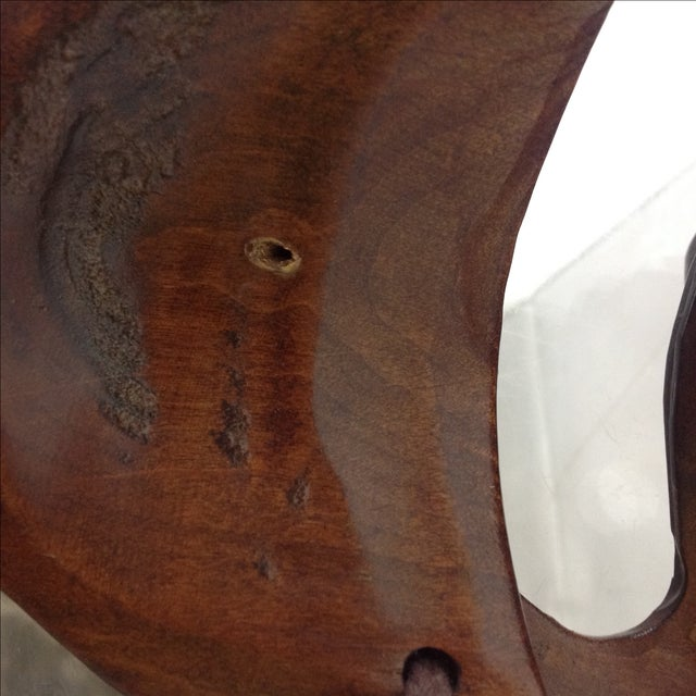Vintage Japanese Carved Boxwood Theatre Mask - Image 6 of 6