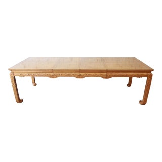 Michael Taylor for Baker Furniture Far East Collection Chinoiserie Extension Dining Table For Sale