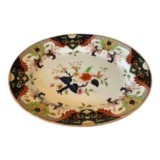 Early 20th Century English Royal Doulton Matsumai Hand Painted Serving Platter For Sale
