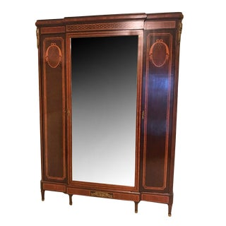 French Empire Style Armoire with Mirrored Door