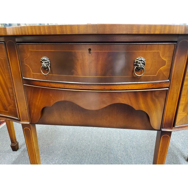 Red Antique Georgian Style Flamed Mahogany Sideboard For Sale - Image 8 of 13