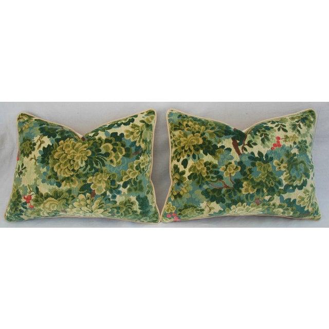 Designer Scalamandre Velvet Marly Pillows - Pair - Image 5 of 11