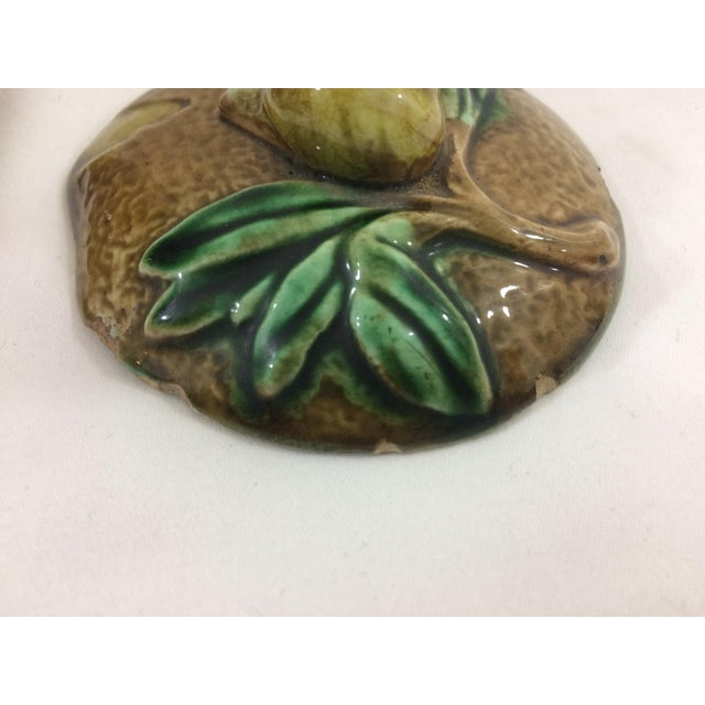 Ceramic French 19th Century Tobacco Jar With Floral Design and Snail For Sale - Image 7 of 9