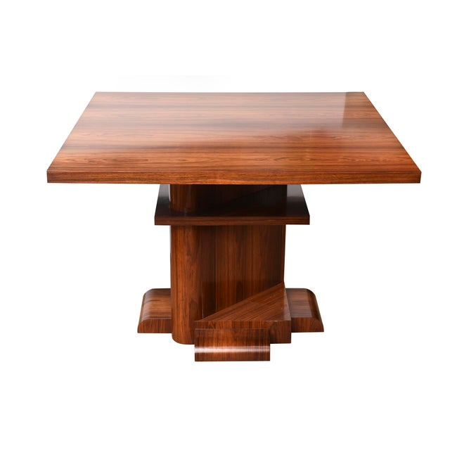 Metal Architectural Larry Lazlo/ Bexley Heath for Widdicomb Square Rosewood Center Table For Sale - Image 7 of 10
