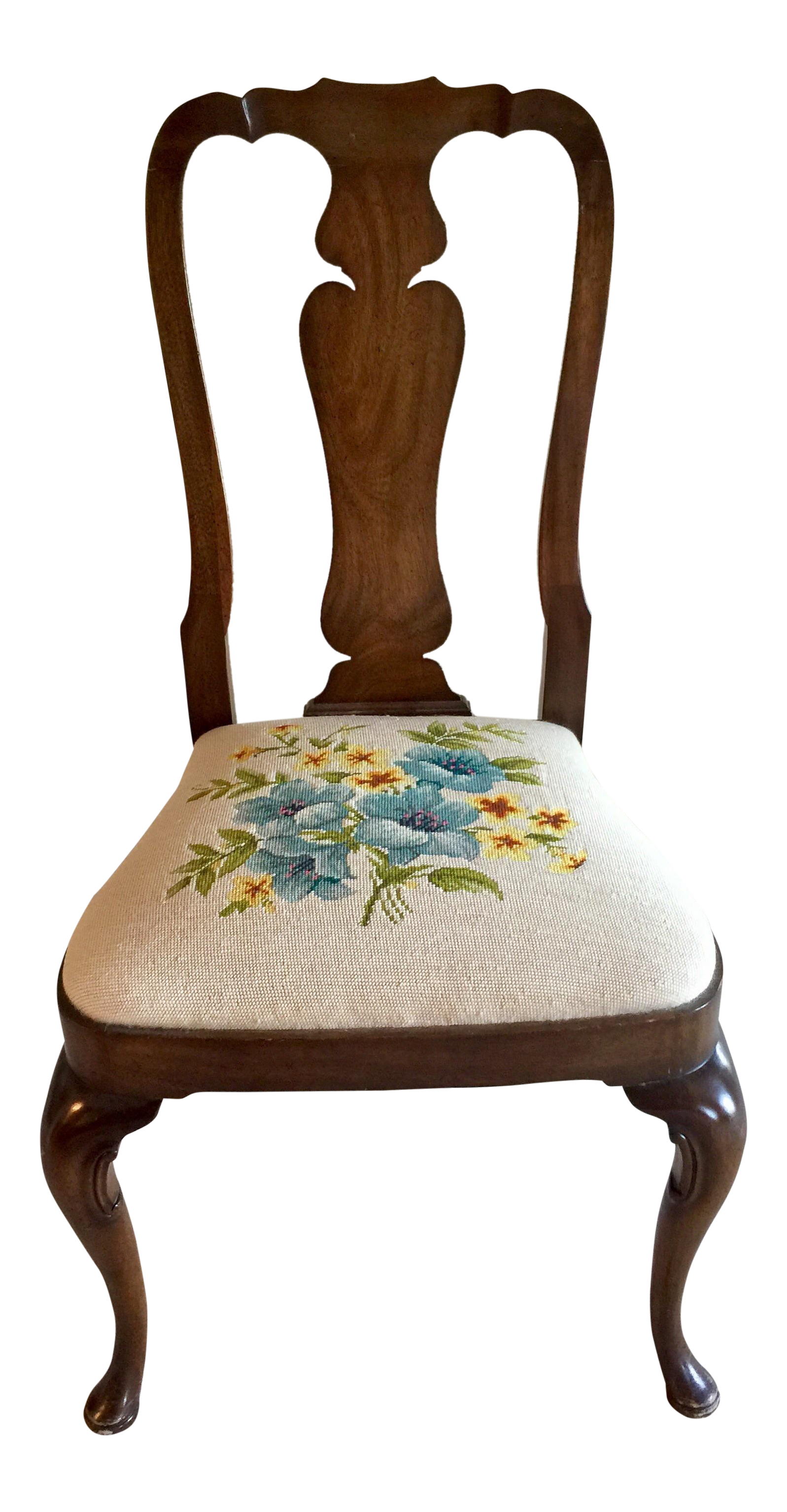Kindel Needlepoint Accent Desk Chair