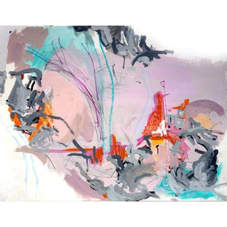 Contemporary Abstract Landscape Painting on Paper For Sale