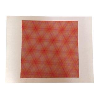 """1971 Abstract Lithograph Silkscreen by Licht Editions """"Karen"""" by Josef Levi"""
