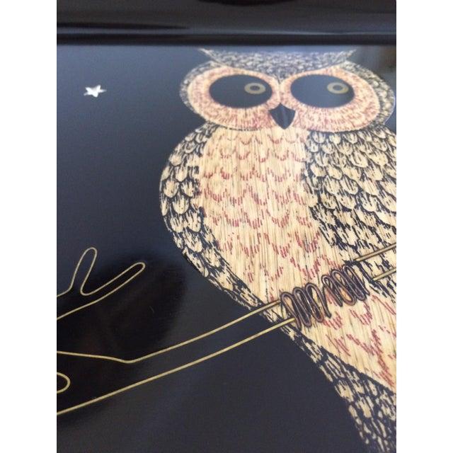 Mid-Century Owl Couroc Tray - Image 5 of 7