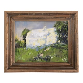 """Springer's Barn"" Framed Landscape Painting For Sale"