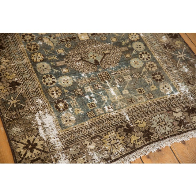 """Blue Vintage Distressed Malayer Rug - 3'3"""" X 4'7"""" For Sale - Image 8 of 11"""