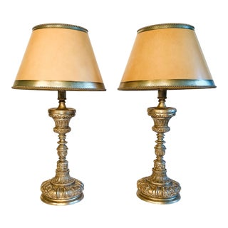 Ebanista Sacristy Table Lamps - a Pair For Sale