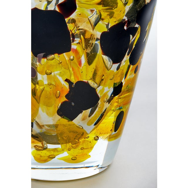 """Red Contemporary Murano Glass """"Pollock"""" Vase For Sale - Image 8 of 12"""