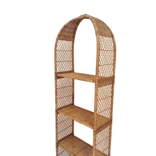 Vintage Rattan Domed Etagere Danny Ho Fong Style Shelf Preview
