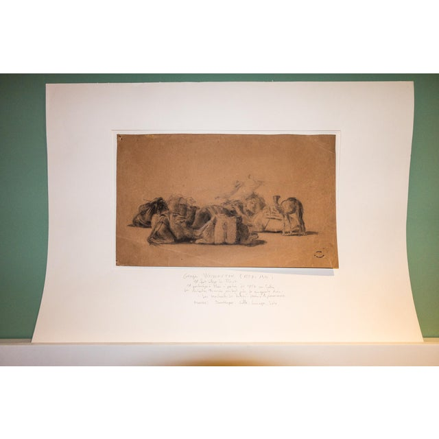 "Resting camel drawing on paper by Georges Washington, stamped ""G. Washington"". Georges Washington (1827-1901) is..."