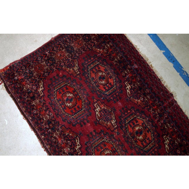 Late 19th Century 1880s, Handmade Antique Collectible Turkmen Saryk Rug 2.6' X 4.4' For Sale - Image 5 of 6