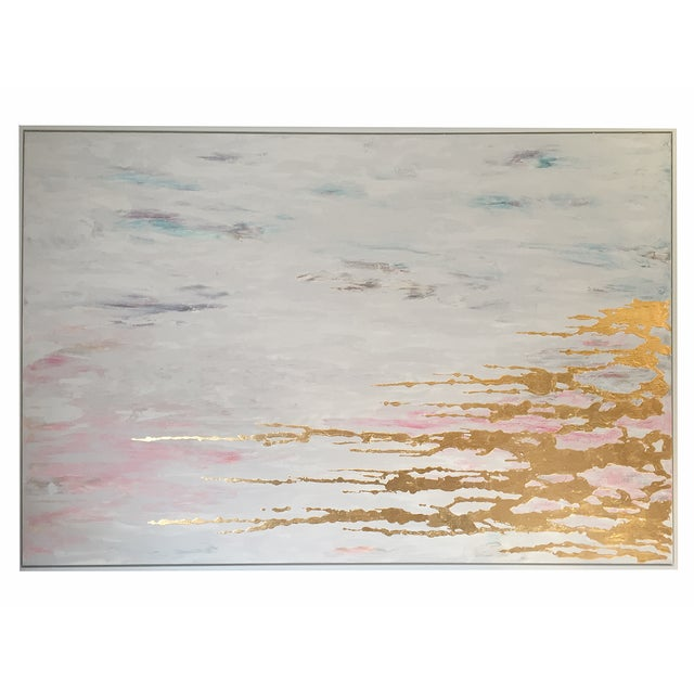Metallic Commissioned Original Abstract Painting - Image 1 of 8