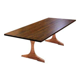 Copper Clad Leg & Industrial Flooring Top Table