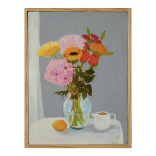 Bouquet with Lemon & Creamer by Anne Carrozza Remick For Sale