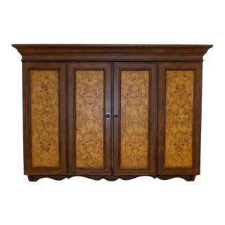 Horchow Wall Mount Flat Screen Tv Cabinet With Burl Wood Accents