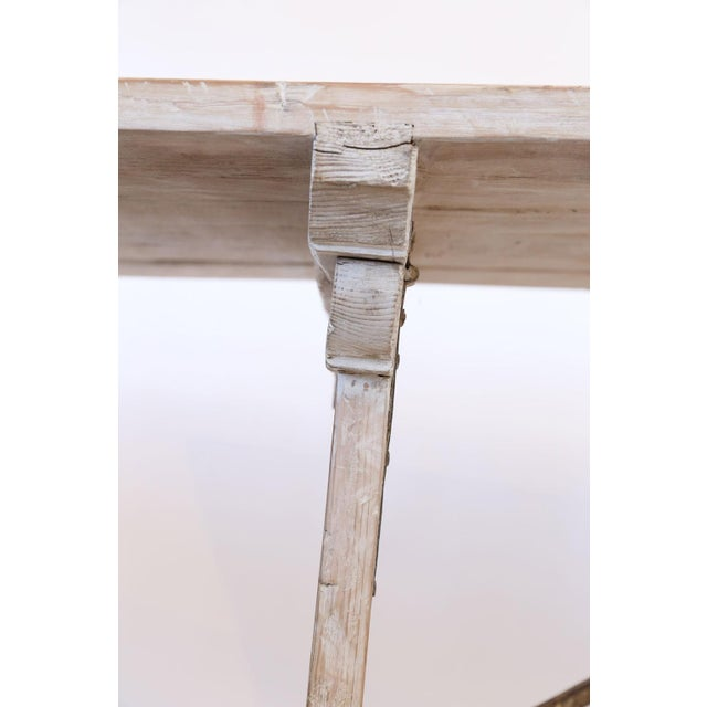 Long Painted Pine Trestle Table For Sale - Image 10 of 13