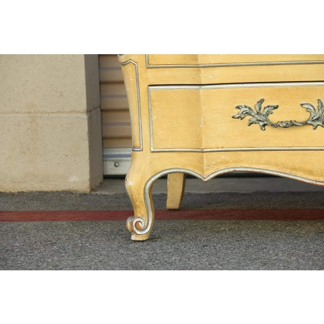 John Widdicomb John Widdicomb Dresser w/ Carrara Marble Top For Sale - Image 4 of 10