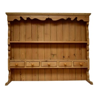 Vintage Pine Open Rack of Shelves and Spice Drawers Only For Sale