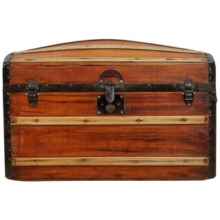 1850 Restored Victorian Dome Top Steamer Trunk
