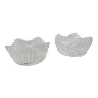 Vintage Cut Glass Candleholders - a Pair For Sale