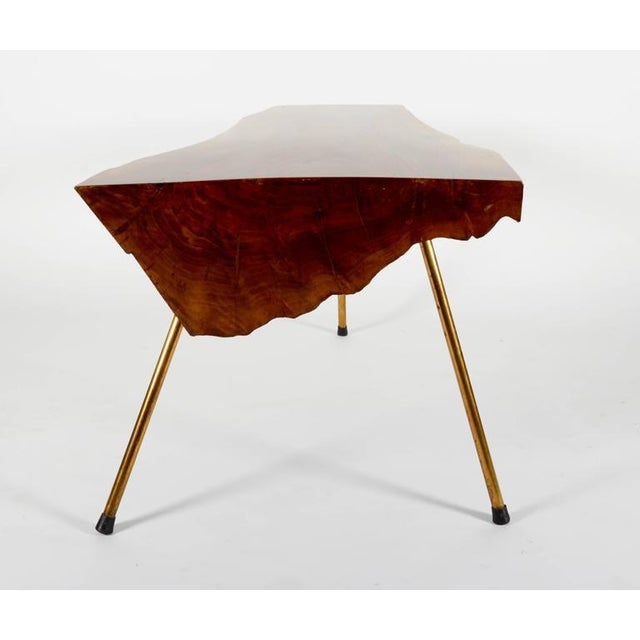 Mid-Century Modern Walnut Table by Carl Auböck For Sale - Image 3 of 7
