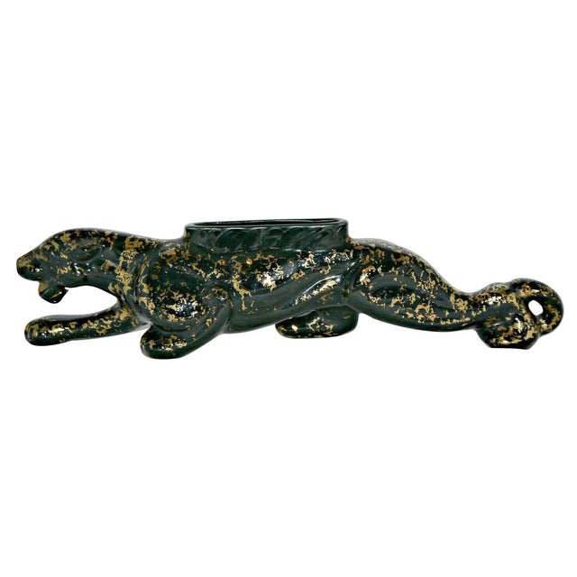 Vintage Mid-Century Ceramic Panther Planter - Image 1 of 8