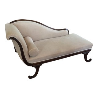 Late 19th Century English Mahogany Chaise For Sale