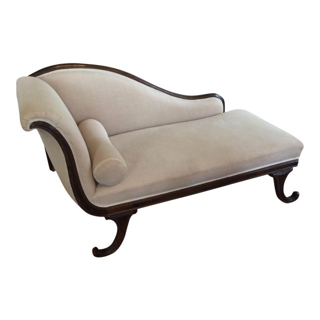 Image of Late 19th Century English Mahogany Chaise