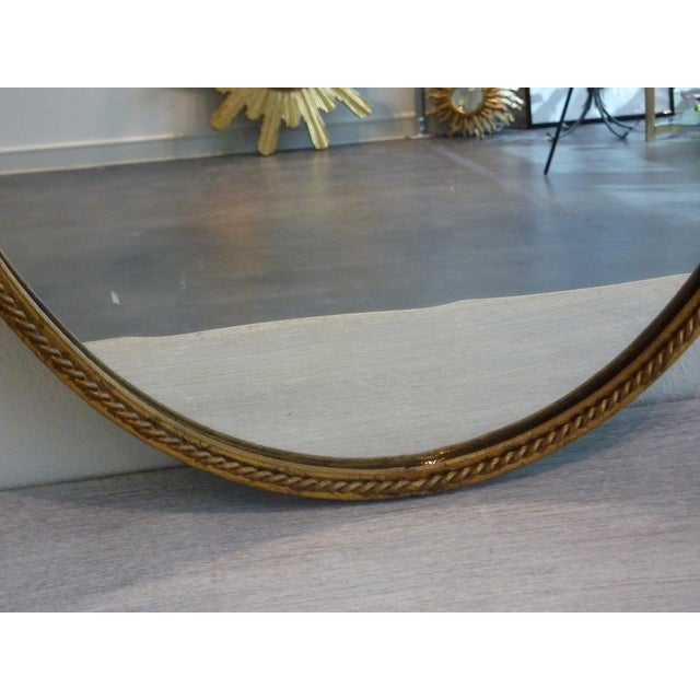 Hollywood Regency Gilded Frame Floral Mirror - Image 5 of 8