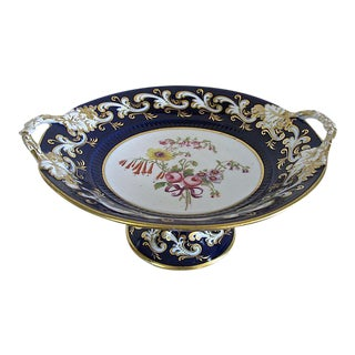 Antique Hand-Painted Porcelain Comport For Sale