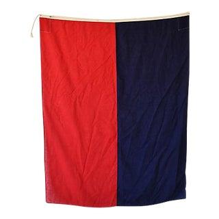 "Large Vintage Maritime Nautical Naval Signal ""E"" Flag"
