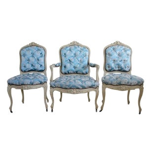 Early 19th Century Vintage Napoleon III Period Chairs- Set of 3 For Sale