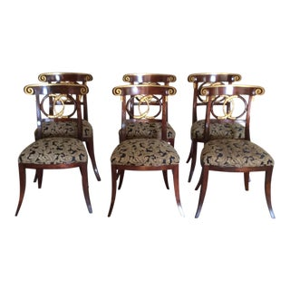 Empire Style Dining Chairs - Set of 6 For Sale