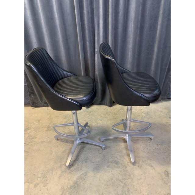 1960s 1960s Chromcraft Sculptura Swivel Stools - a Pair For Sale - Image 5 of 13