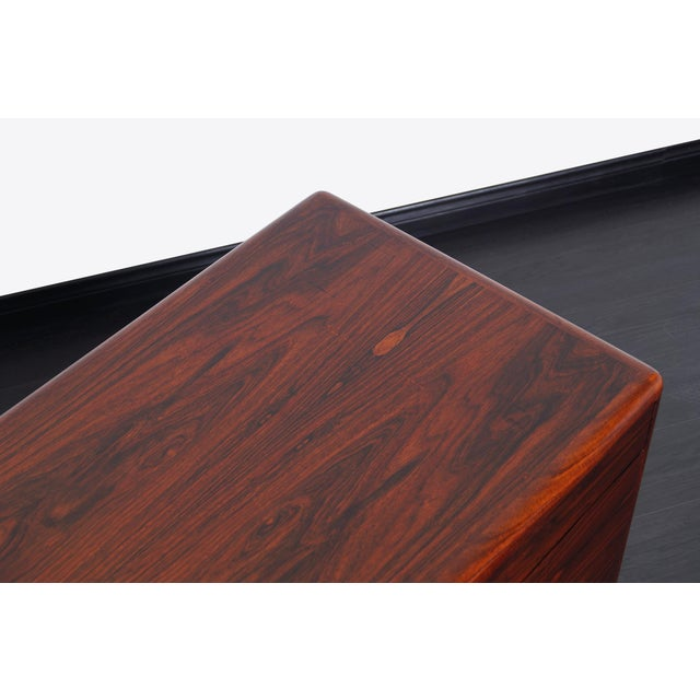 Red Danish Modern Rosewood Credenza For Sale - Image 8 of 9