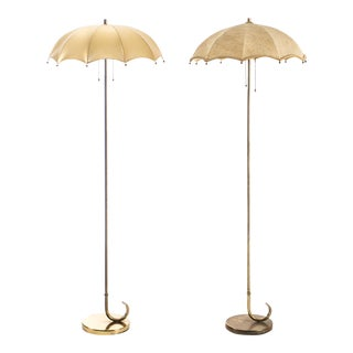 Gilbert Rohde Pair of Umbrella Floor Lamps For Sale