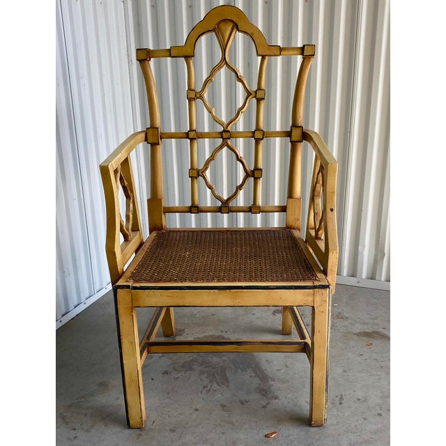 Vintage Bamboo Fretwork Armchair For Sale - Image 11 of 11