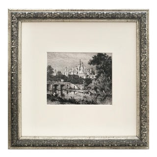 19th C French Etching of the Chateau Chambord by Boulard For Sale