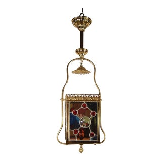 Aesthetic-era Gas Hall Light Fixture