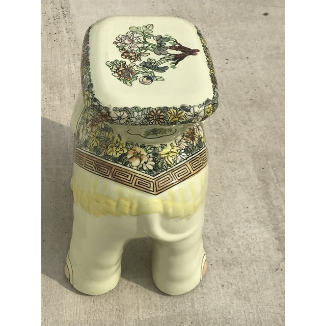 1980s Vintage Elephant Garden Stool For Sale - Image 4 of 7