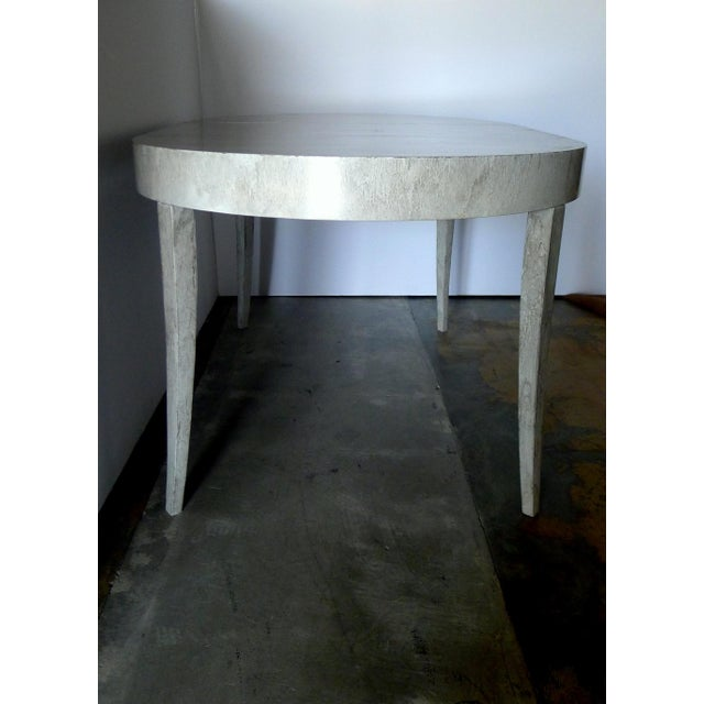 Restored Game or Dining Table in Drip-Glaze Finish - Image 9 of 11